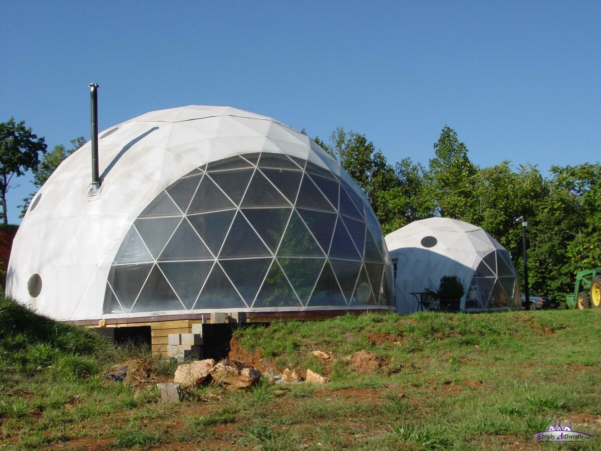 You have chosen Pacific Domes a tent-like approach to geodesic domes; what made you choose them in the first place (why tent-like)? & SimplyDifferently.org: Geodesic Solitude